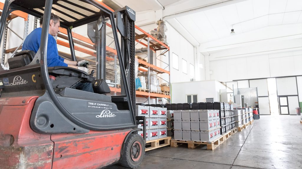 vendita batterie accumulatori industria carrelli elevatori la gamma commerciale san salvo